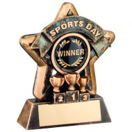 Bronze-Gold Sports Day Mini Star Trophy - 3.75In (New 2014)