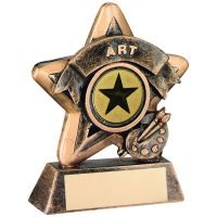 Bronze-Gold Art Mini Star Trophy - 3.75in (New 2014)