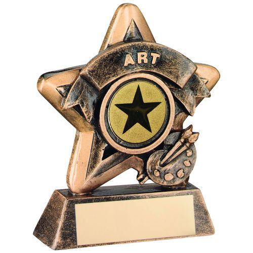 Bronze-Gold Art Mini Star Trophy - 3.75in (New 2014)