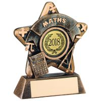 Bronze-Gold Maths Mini Star Trophy - 3.75in (New 2014)