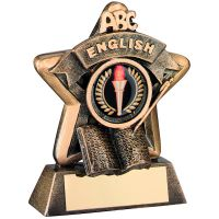 Bronze-Gold English Mini Star Trophy - 3.75in (New 2014)