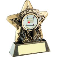 Bronze Gold Reading Mini Star Trophy 3.75in