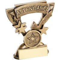 Bronze Gold Attendance Mini Cup Trophy Award Trophy - (1in Centre) 3.75in