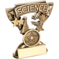 Bronze Gold Science Mini Cup Trophy Award Trophy - (1in Centre) 3.75in