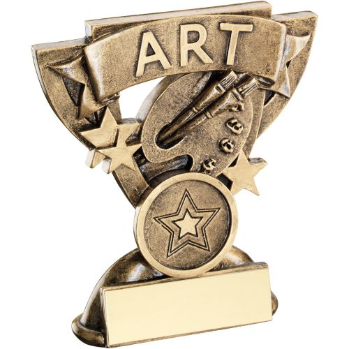 Bronze Gold Art Mini Cup Trophy Award Trophy - (1in Centre) 3.75in