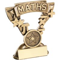 Bronze Gold Maths Mini Cup Trophy Award Trophy - (1in Centre) 3.75in