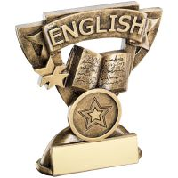 Bronze Gold English Mini Cup Trophy Award Trophy - (1in Centre) 3.75in