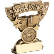 Bronze Gold Reading Mini Cup Trophy Award Trophy - (1in Centre) 3.75in