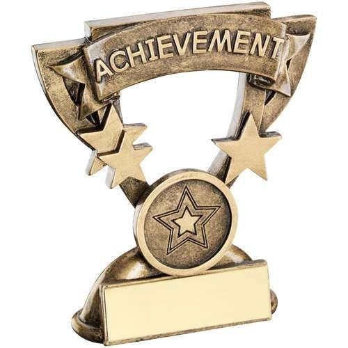 Bronze Gold Achievement Mini Cup Trophy Award Trophy - (1in Centre) 4.25in