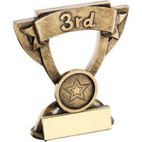 Bronze Gold Mini Cup Trophy Award Trophy - 1st (1in Centre) 5in