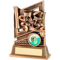 Bronze Gold Drama Diamond Series Trophy 5.25in