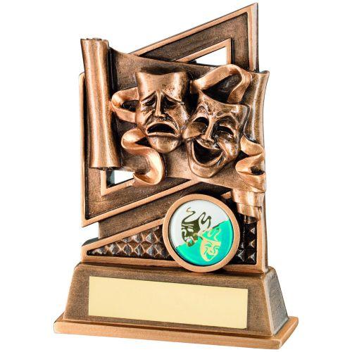Bronze Gold Drama Diamond Series Trophy 5.25in