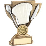Bronze/White/Silver Cooking Mini Cup Trophy Award - 5in
