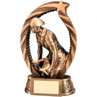 Bronze/Gold Cycling Star Archway Trophy - 7.25in