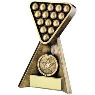 Bronze/Gold Pool/Snooker Pyramid Trophy 4in