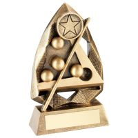 Bronze Gold Gold Pool Snooker Diamond Collection Trophy Award - 6.5in