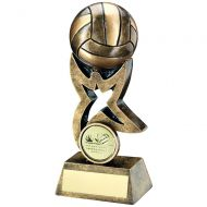 Bronze/Gold Volleyball On Star Trophy Riser Trophy 4in