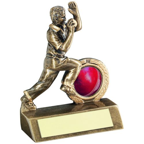 Bronze Gold Mini Cricket Bowler Trophy 3.75in