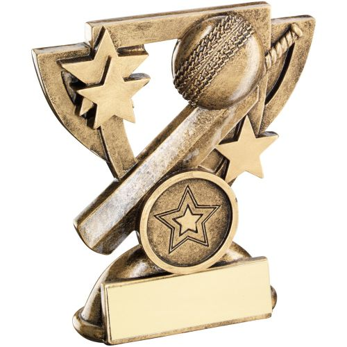 Bronze Gold Cricket Mini Cup Trophy Award Trophy - (1in Centre) 3.75in