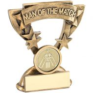 Bronze Gold Gold Man Of The Match Mini Cup Trophy Award With Cricket Insert Trophy Award - 3.75in