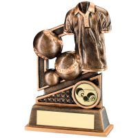 Bronze Gold Lawn Bowls Diamond Series Trophy - 4.75in