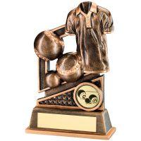 Bronze Gold Lawn Bowls Diamond Series Trophy - 4.75in