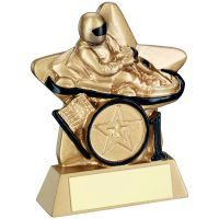 Gold Black Go-Kart Mini Star Trophy 3.75in