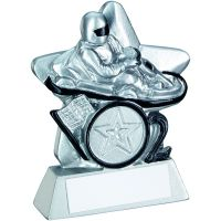 Silver Black Go-Kart Mini Star Trophy 3.75in