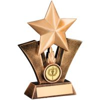 Bronze Gold Generic Star Resin Trophy - 7.5in