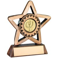 Bronze Gold Resin Generic Mini Star Trophy - 4.25in