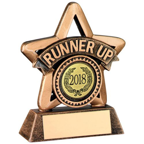 Bronze Gold Resin Runner-Up Mini Star Trophy - 3.75in