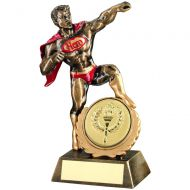 Bronze Gold Red Resin Generic Hero Trophy (2in Centre) - 7.25in