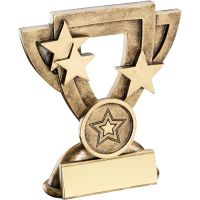 Bronze Gold Generic Mini Cup Trophy Award Trophy (1in Centre) - 3.75in