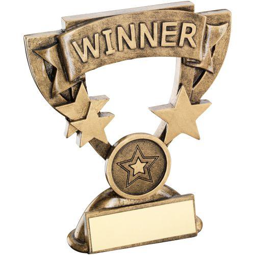 Bronze Gold Winner Mini Cup Trophy Award Trophy - (1in Centre) 4.25in