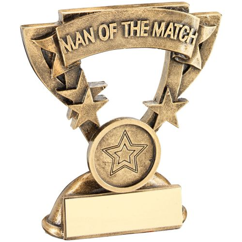 Bronze Gold Gold Man Of The Match Mini Cup Trophy Award Trophy Award - 3.75in