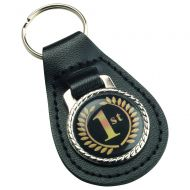 Black Leather Key Fob - 2.5in