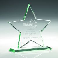 Jade Glass Star (10mm Thick) - 6.75in