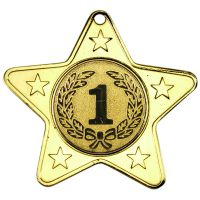 Gold Star-Shaped Medal - 2in