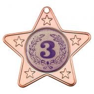 Bronze Star-Shaped Medal - 2in