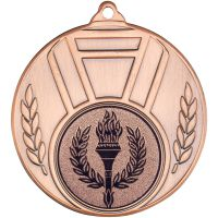 Ribbon And Leaf Medal - Bronze (1in Centre) 2in