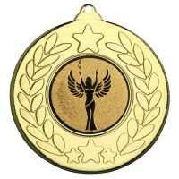 Gold Stars And Wreath Medal - 2in