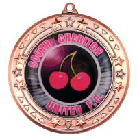 Bronze Tri-Star Medal (2in Centre) - 2.75in