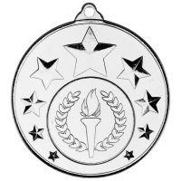 Multi Star Medal - Silver 2in