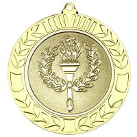 Gold Wreath Medal (2in Centre) - 2.75in