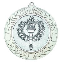 Silver Wreath Medal (2in Centre) - 2.75in