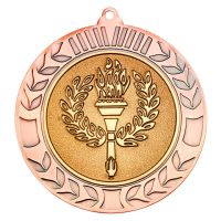 Bronze Wreath Medal (2in Centre) - 2.75in