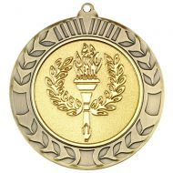 Antique Gold Wreath Medal (2in Centre) - 2.75in