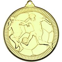 Football Multi Line Medal Gold 2in