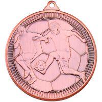 Football Multi Line Medal Bronze 2in