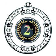 Silver Tri-Star Medal - 2in